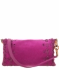 Lanvin Fuchsia Suede Ribbon Detail Flap Shoulder Bag