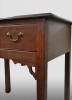 Small english side-table with drawer, made of oak. About 1750 - 1775.