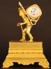 ABS-13 Gilt bronze ' portefaix' clock, miniature