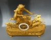 Very fine Empire mantel clock, chariot with deer and goddess Diana, Paris ca. 1810.