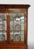 English corner display cabinet with the original glass in the upper doors, mahogany.