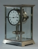 M204 Nickel art deco style J.L. Reutter Atmos four-glass atmos clock, tall version