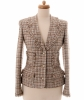 Chanel Multicolor Fantasy Tweed Fringed Jacket 04P
