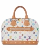 Louis Vuitton 'Alma' White Multicolor Monogram Canvas Handbag - Louis Vuitton