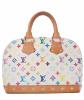 Louis Vuitton 'Alma' White Multicolor Monogram Canvas Handbag - Louis Vuitton