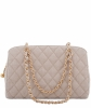 Chanel Tan Quilted Canvas Shoulder Bag - Chanel