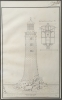 J.F. Malinvaud: study drawings of the Eddystone Lighthouse