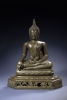 A Thai bronze sitting Buddha, Buddhist sculpture from Thailand