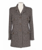 Chanel Brown White Check Wool Tweed Jacket 95A