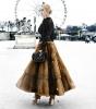 Valentino Weasel Fur Flared Skirt  - Valentino