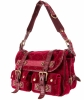 Louis Vuitton Red Velour Clyde Mon Shoulder Bag - Limited Edition - Louis Vuitton