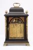 An English ebonized quarter striking table clock, Stephen Rimbault, circa 1750