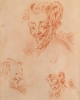 Sketch of 3 Faun heads