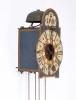 A South German polychrome iron wall clock, circa 1730