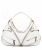 Versace White Leather Biker Hobo - Gianni Versace