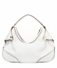 Versace White Leather Biker Hobo