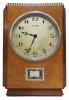 M217 Wooden Atmos clock, amboyna veneers, J.L. Reutter, model LG I, No 144