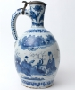 A Jug in Blue and White Dutch Delftware