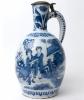 A Jug in Blue and White Dutch Delftware
