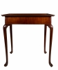 A Mahogany Dished Tray-Top Tea Table with Drawer