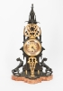 Small Charming Desk or Mantel Clock in Neo-Gothic Style, circa 1880