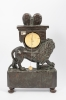 Nice French Louis XVI Small Wooden Lion Pendule, circa 1770