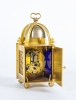 "Lovely Fire Gilded Miniature Traveling Clock Signed  ""Planchon a Paris"""