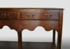 English dresser base with three drawers, oak.