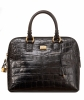 Gianfranco Ferre Black Croc Embossed Leather Handbag - Gianfranco Ferré