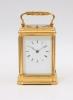 A rare French 'bottom wind' carriage clock, Leroy & Fils, circa 1880
