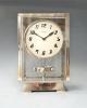 Art Deco Atmos klok, hoog model, nikkel, Reutter no 3043, Frankrijk ca.1930.