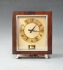 A fine and rare model Atmos clock,  rosewood and chrome, Jaeger LeCoultre ca. 1942.