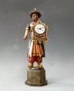Schnappuhr, polychrome painted Chinese, Black Forest, ca. 1840.