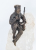 Russian Kozak Figure on Berg Crystal Base, Late 19th Century