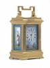 A charming small French 'Sevres' panelled ormolu carriage clock, circa 1900