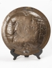 A lovely pair of far East bronze circular wall decoration circa 1880