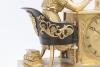 A very popular French empire ormolu mantel clock attributed to Justin Vulliamy, circa 1820
