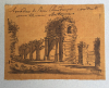 Three small drawings of Rome