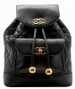 Chanel Black Lambskin Leather Jumbo Backpack - Chanel