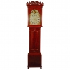 A Welsh mahogany longcase clock with moonphase W. Rowland Pwllheli circa 1830
