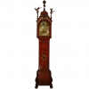 A good Dutch burr walnut longcase clock with calendar H.B. Negenvinger Amsterdam circa 1750