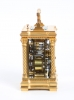 A small French quarter striking gilt brass carriage clock, circa 1890