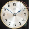 A French nickel plated electric wall clock, Bulle