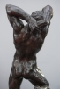 An imposing bronze sculpture of a naked muscular man, by Alfred Pina, circa 1930