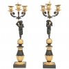 A great pair of Empire/Charles X candleholders circa 1830
