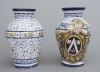 A decorative pair of so-called Arabello jars, Italy 20th century