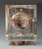 Mooie Art Deco nikkelen Reutter Atmos klok, no. 3645, Frankrijk ca.1930.