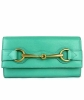Gucci Jasmine Green Leather Continental Horsebit Wallet - Gucci