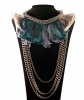 Lanvin Feather Chainlink Necklace