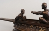 "An important unusual bronze from a canoe by ""Emile Drouot circa 1880"